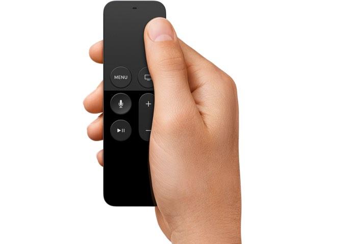 Siri Remote voor Apple TV 4, touchbediening.