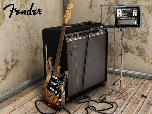 Fender-gitaar met versterker.