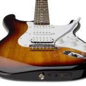 Fender-gitaar met usb-aansluiting.