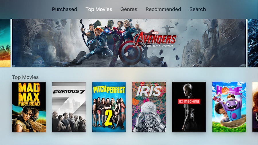 Apple TV UI