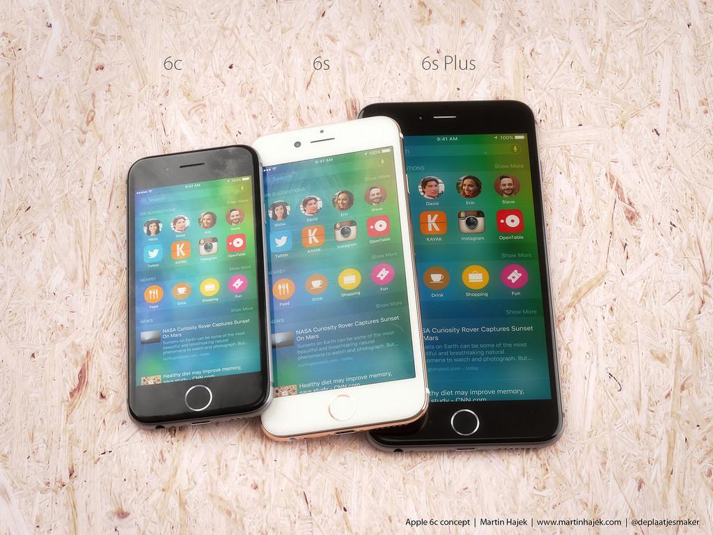 Het iPhone SE concept van Martin Hajek