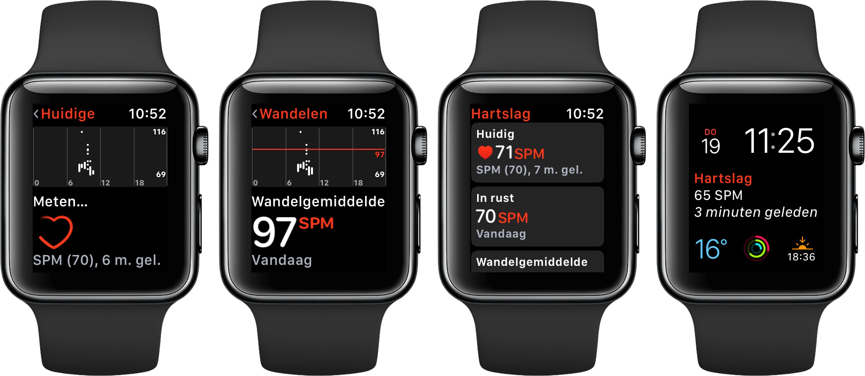 Hartslag app Apple Watch