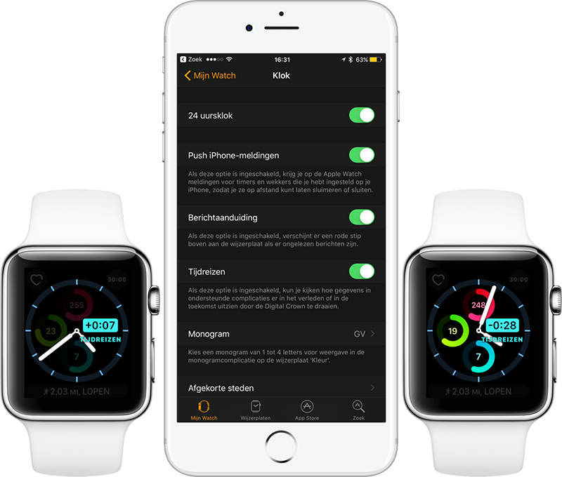 Apple Watch tijdreizen