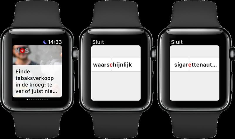 NOS Apple Watch met snellezen