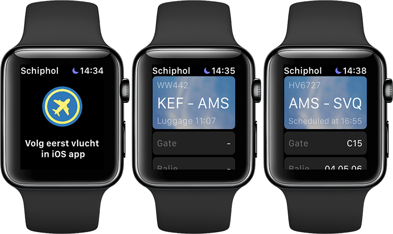 Schiphol Apple Watch-app
