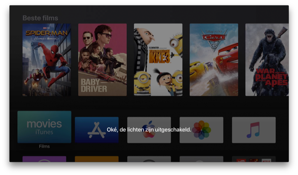 Siri op de Apple TV voor HomeKit.