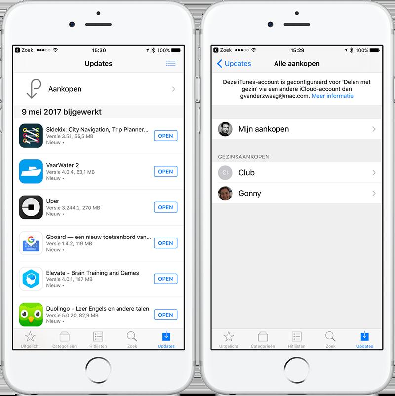 app store aankopen bekijken op iPhone