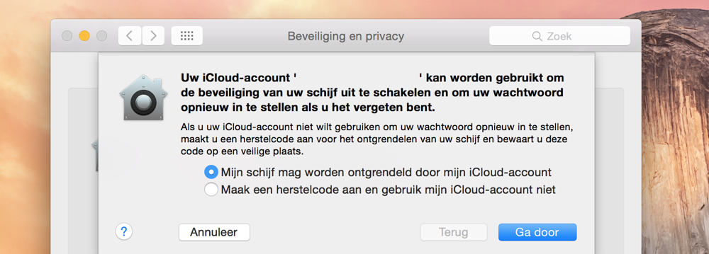 FileVault op de Mac