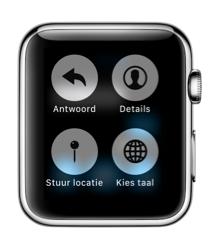 Apple Watch berichten taal kiezen.