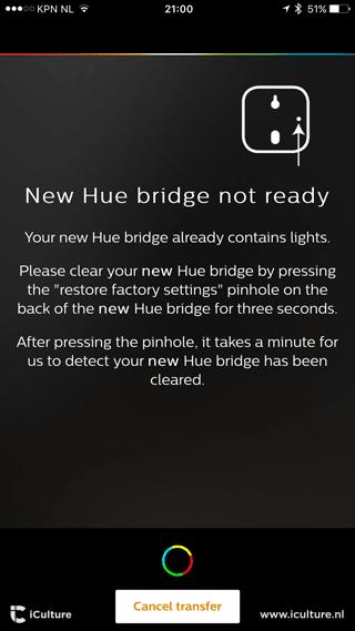 Philips Hue Bridge: als je een pakket met lampen hebt gekocht, moet je die eerst ontkoppelen