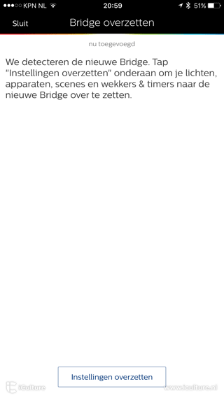 Philips Hue Bridge overzetten
