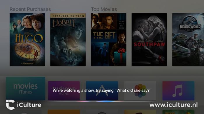 Zoeken met Siri op de Apple TV