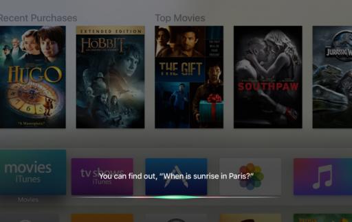 Zoeken met Siri op de Apple TV 4