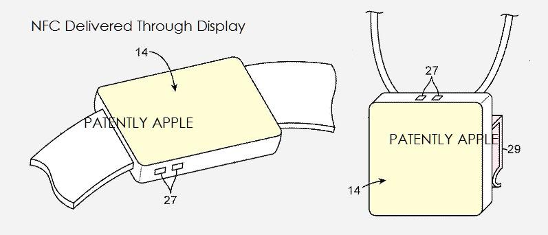 NFC-patent met Apple Watch als ketting.