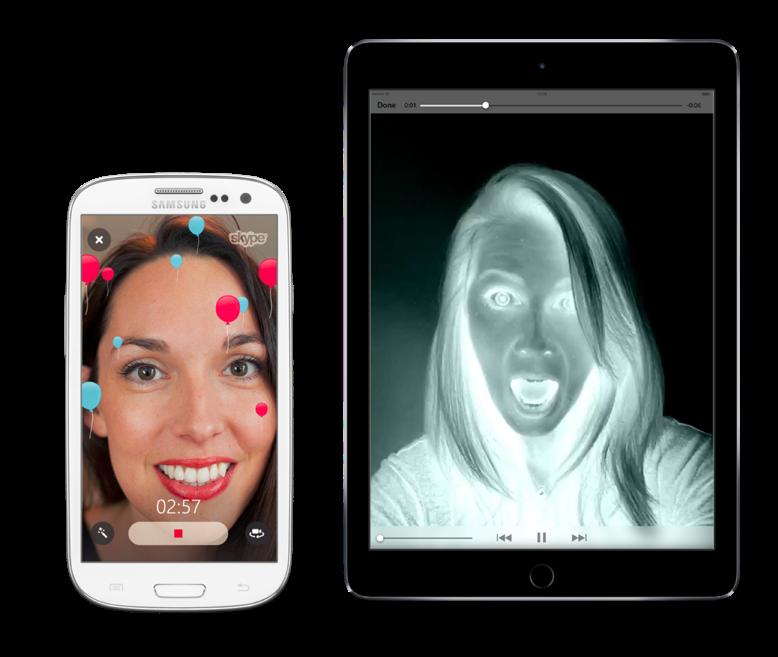 Stuur videoberichten met een leuke filter in Skype.