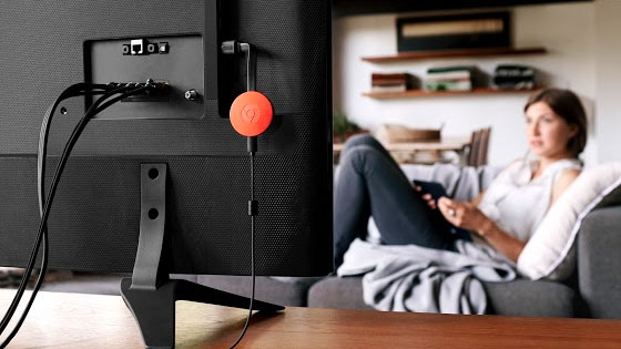 Chromecast 2 in tv-toestel