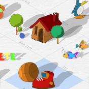 Maak je eigen land met tekeningen in Paper Town.