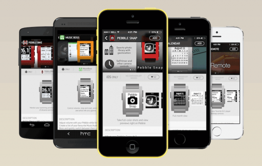 Pebble App Store devices