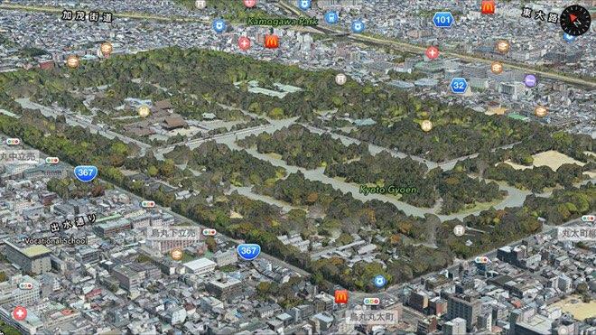 Kyoto Japan 3D Flyover kaart