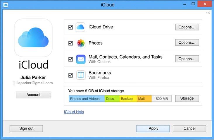 Fotos importeren op Windows met iCloud Drive