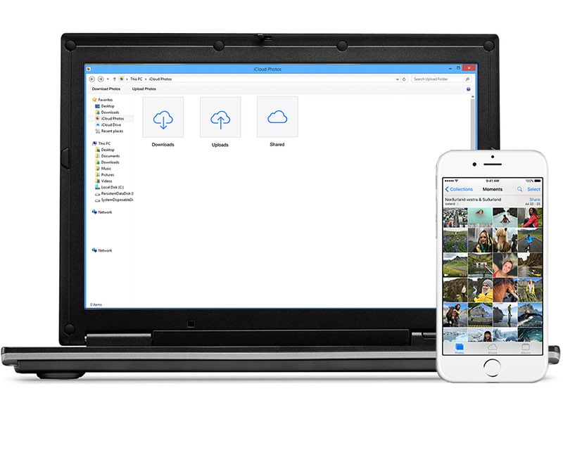 iCloud Drive op Windows laptop