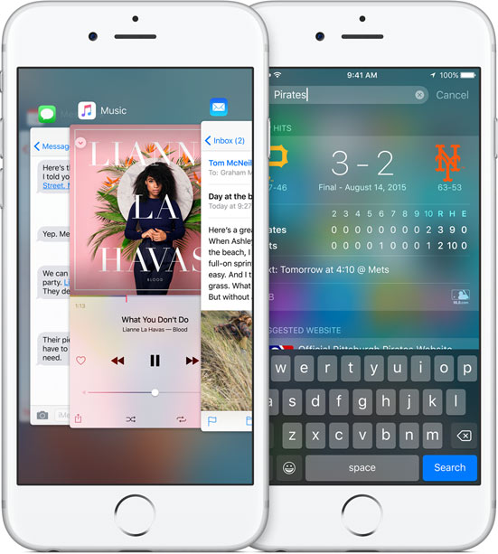 iPhone 6s met iOS 9