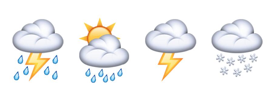 Emoji-Weer