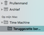 Teruggezette e-mails in Time Machine.