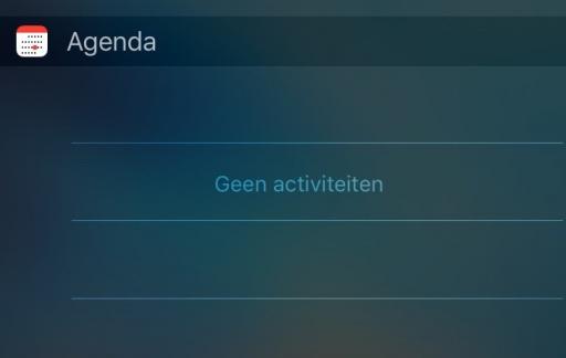 De Agenda-widget.
