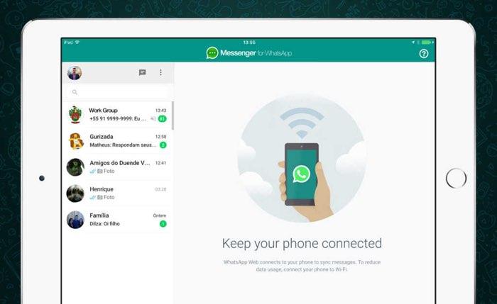 Messenger for WhatsApp werkt via de webversie van de dienst