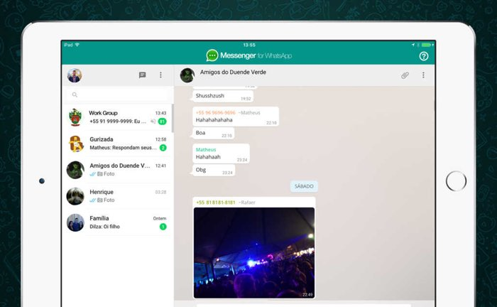 Messenger for WhatsApp voor iPad (onofficiële app)