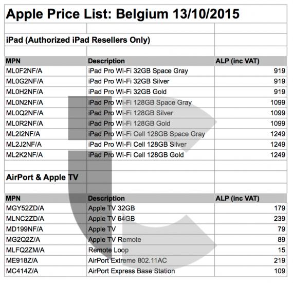 Europese Prijzen Apple TV iPad Pro
