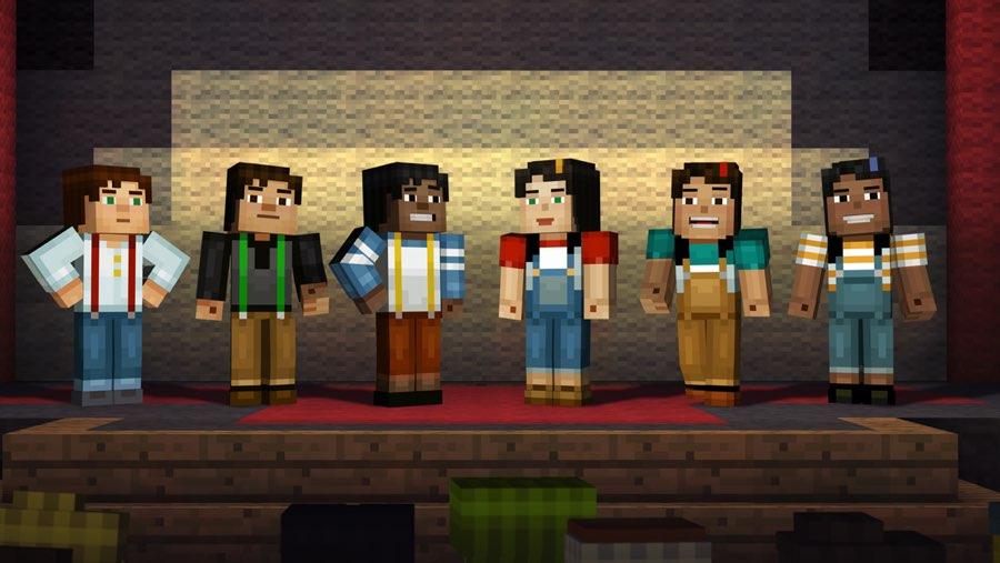 Minecraft Story Mode: poppetjes