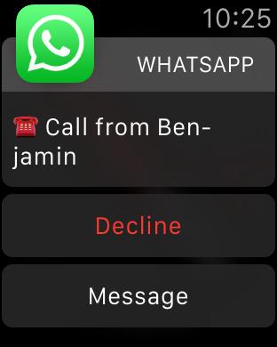WhatsApp telefoontje komt binnen