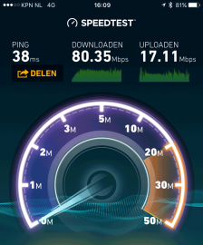 Speedtest iPhone 6s plus