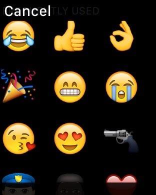 WhatsApp emoji op Apple Watch