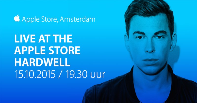 Apple Store optreden DJ Hardwell