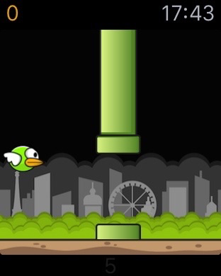 Birdie voor de Apple Watch is een Flappy Bird-kloon.