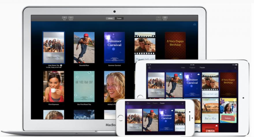 iMovie 4k video op iPad Air 2