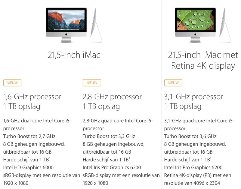 iMacs 21,5 inch