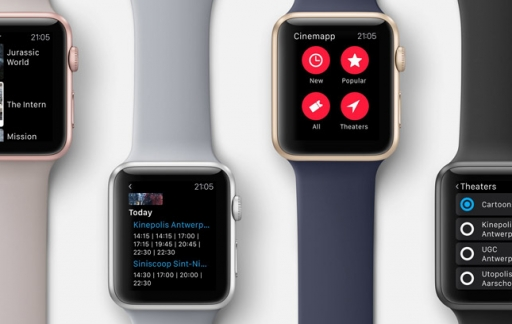 Cinemapp op de Apple Watch