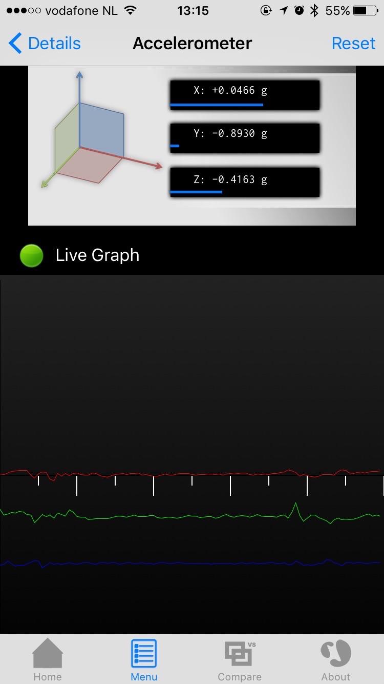 Bekijk de accelerometer in Lirum.