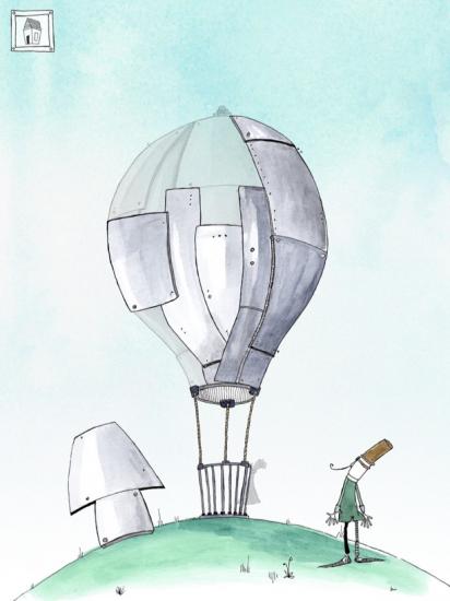 Bouw een luchtballon met Professor Staal.