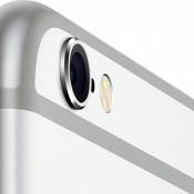 iPhone 6s zilver camera close-up