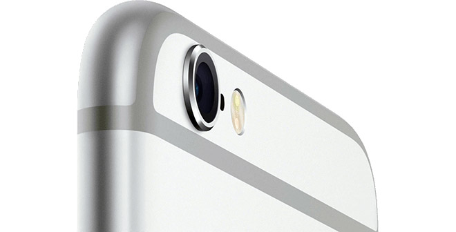 iPhone 6s zilver camera close-up breed