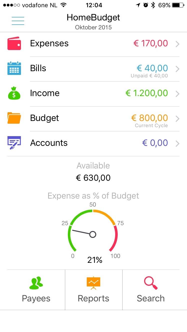 Met  HomeBudget kun je een budget delen met gezinsleden.
