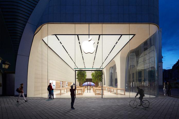 Apple Store Brussel, algemene foto 's avonds