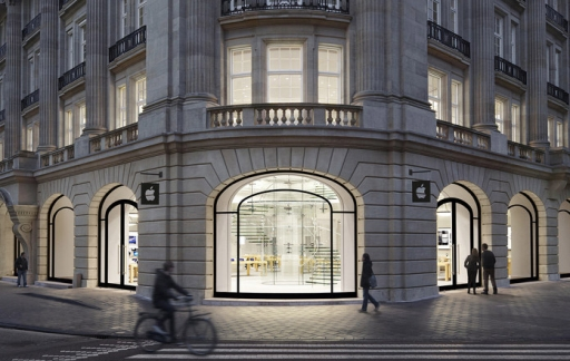 Apple Store Amsterdam ingang algemene foto