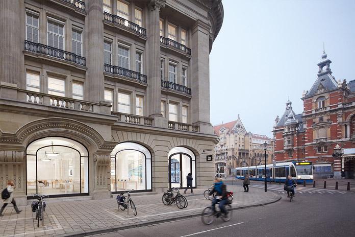 Apple Store Amsterdam, buitenaanzicht Leidseplein