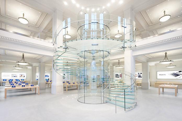 Apple Store Amsterdam glazen trap